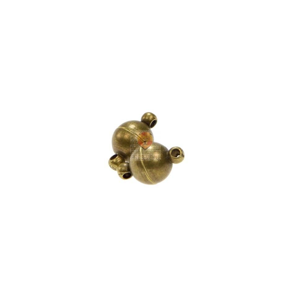 Magnetni zaključek 8 mm, barva starega zlata, 2 kos