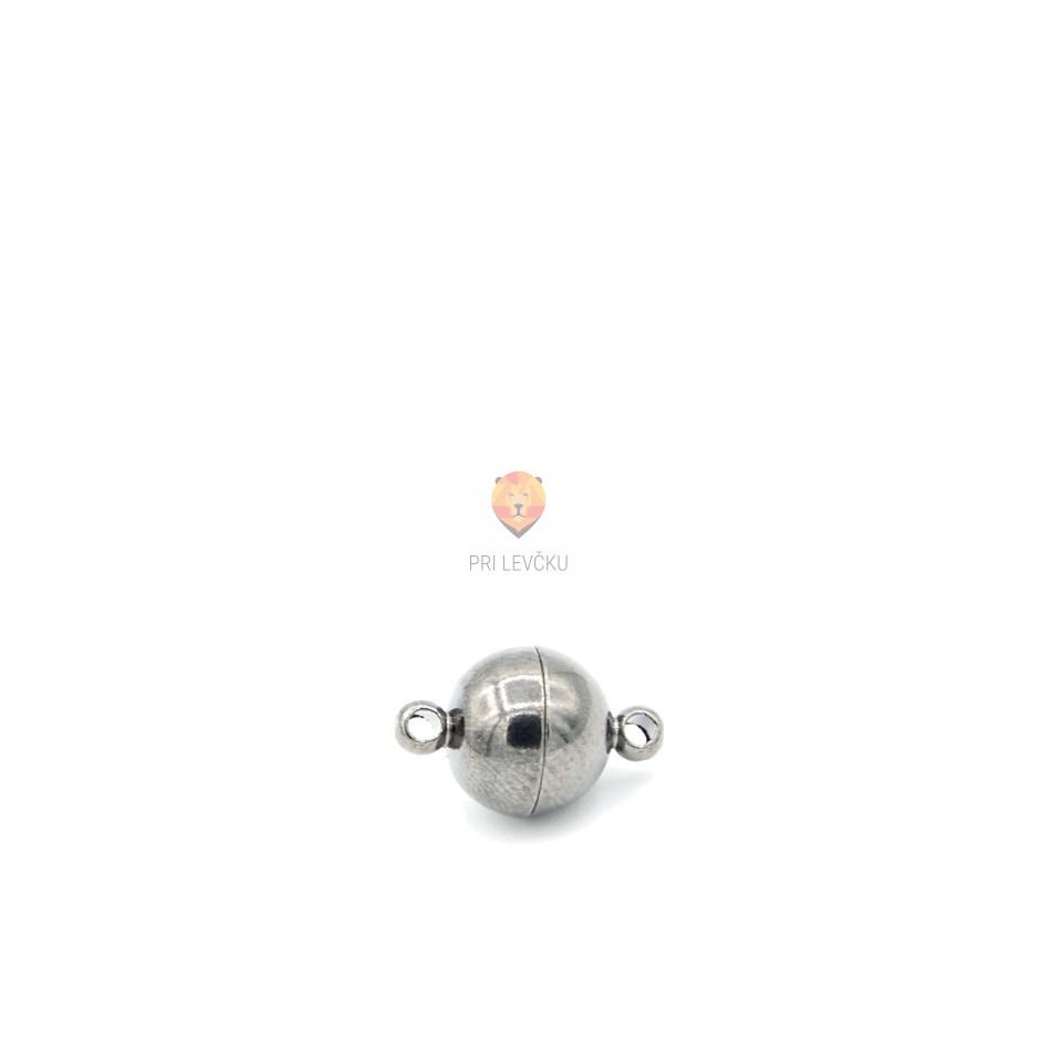 Magnetni zaključek okrogel 10 mm, barva antracita, 1 kos