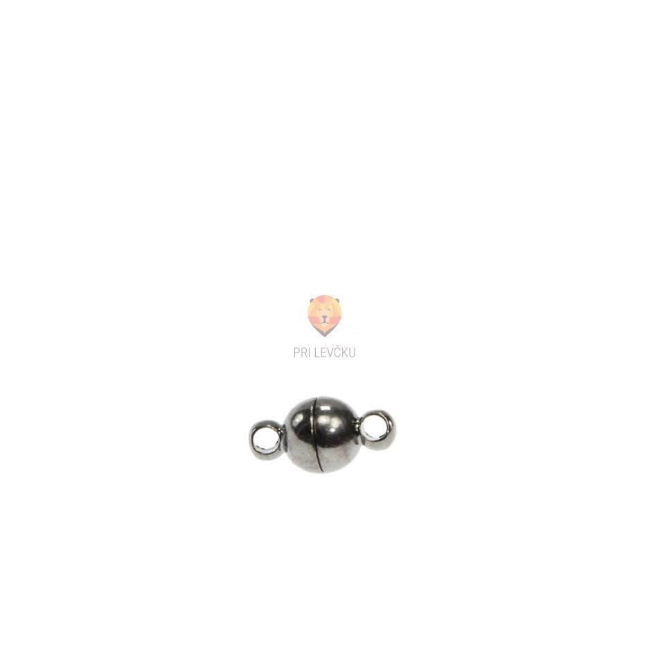 Magnetni zaključek okrogel 6 mm, barva antracita, 1 kos