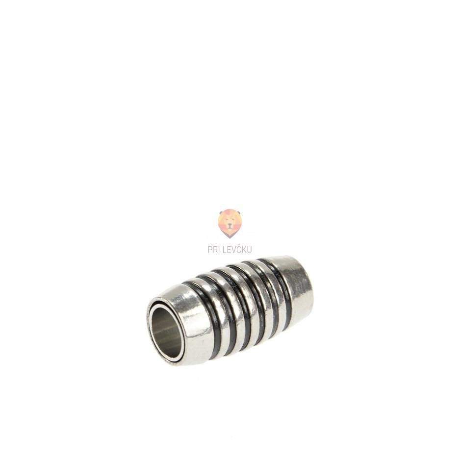 Magnetni zaključek 18 x 10 mm, platinaste barve, 1 kos