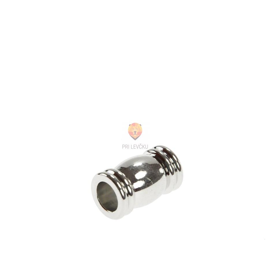 Magnetni zaključek 16 x 10 mm, platinaste barve, 1 kos