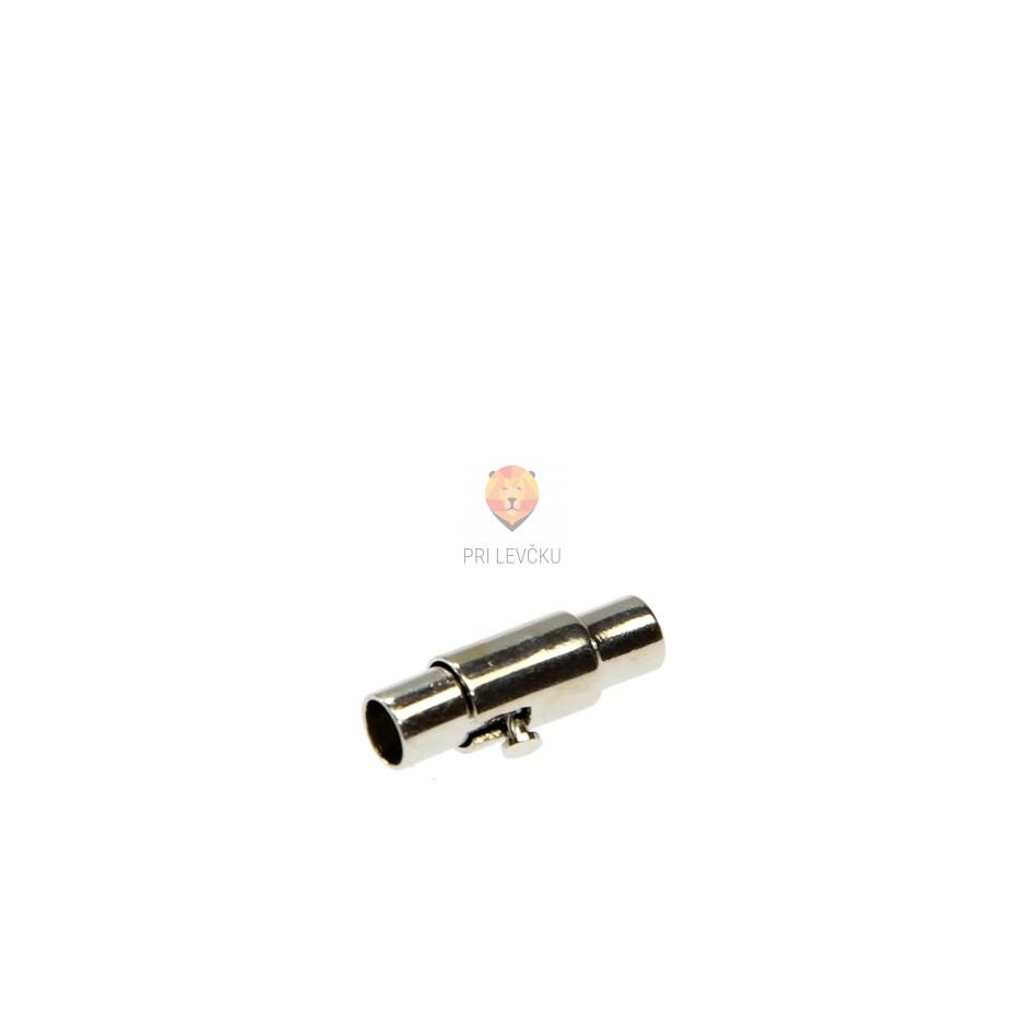 Magnetni zaključek 15 x 5 mm, platinaste barve, 1 kos