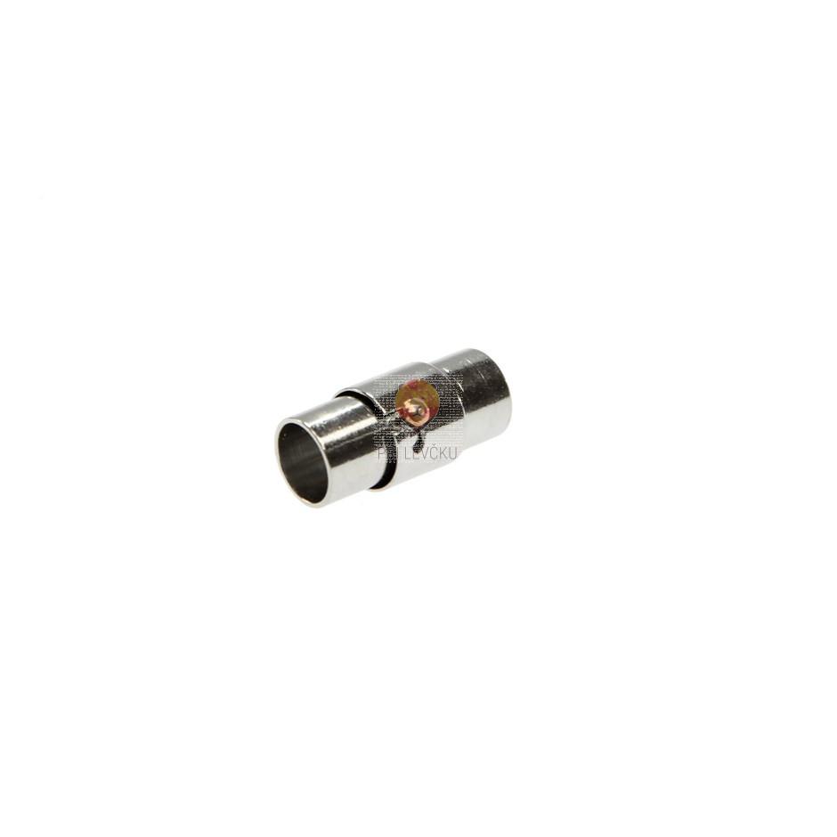 Magnetni zaključek 16 x 8 mm, platinaste barve, 1 kos
