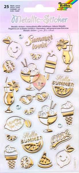Metalne reliefne nalepke Summer 25 kosov