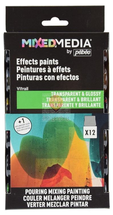 MIXED MEDIA Vitrail set 12x20ml