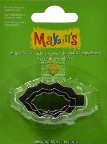 Kovinski modelčki za izrezovanje, 3 kosi 3 različne velikosti - Listki nazobčani