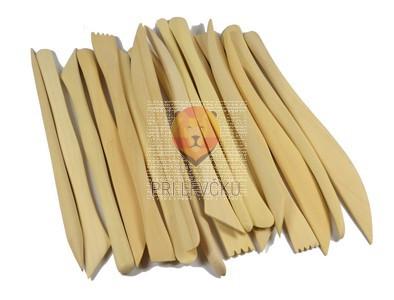 Modelirke lesene 20 cm 18 kos