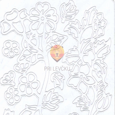 Nalepke ROŽE bele barve