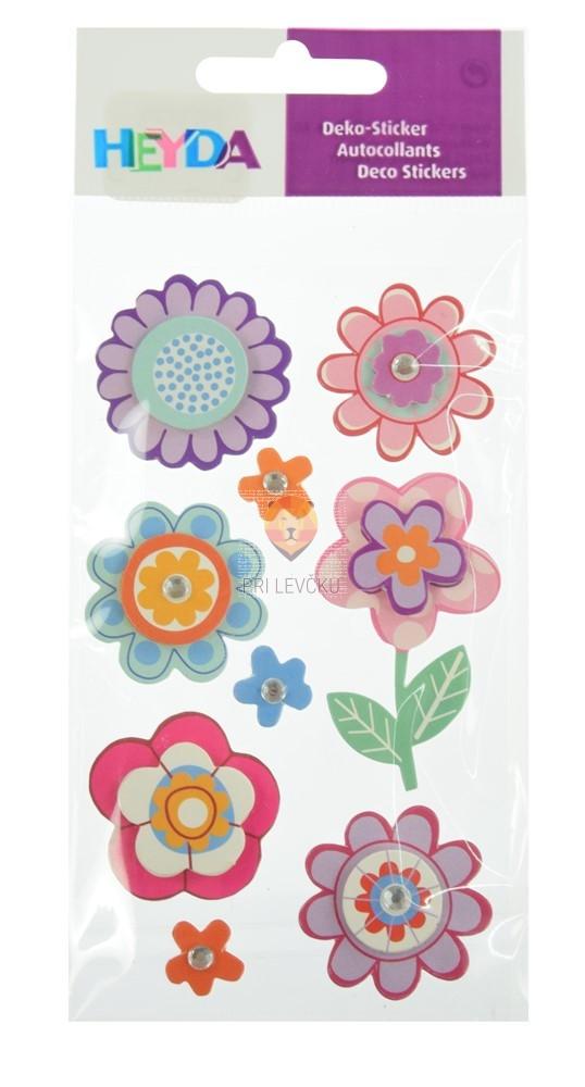 Nalepke z dekorativnimi detajli Pink rožice