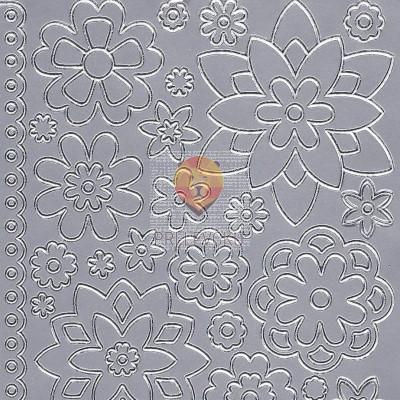 Nalepke ROŽICE srebrne barve