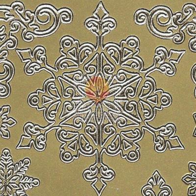 Nalepke SNEŽINKE zlate barve
