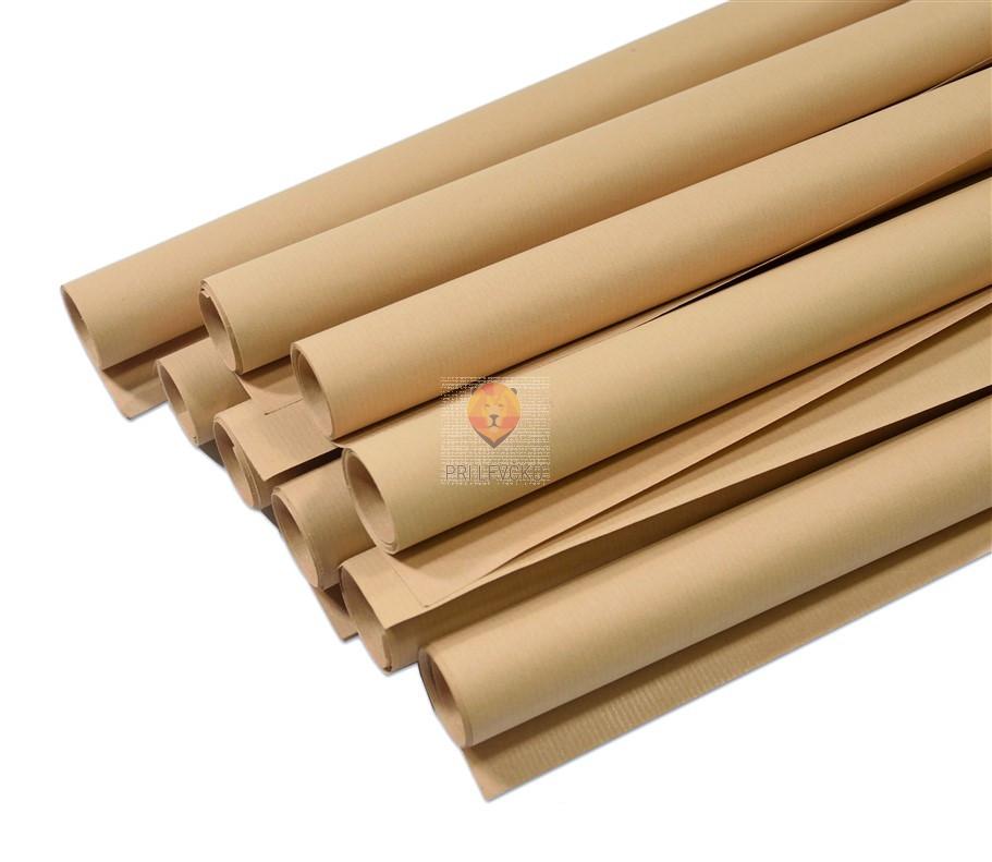 Zavijalni natron papir rjave barve 92x126cm 90g/m2 1 rola
