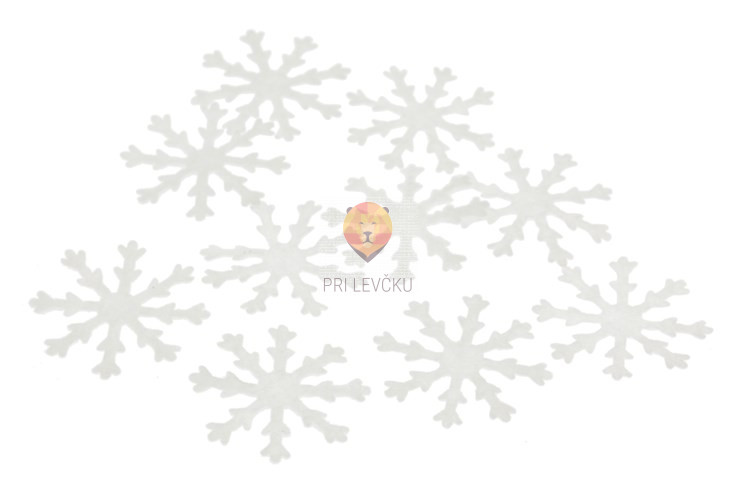 Novoletni okraski snežinke bele, 10 kos