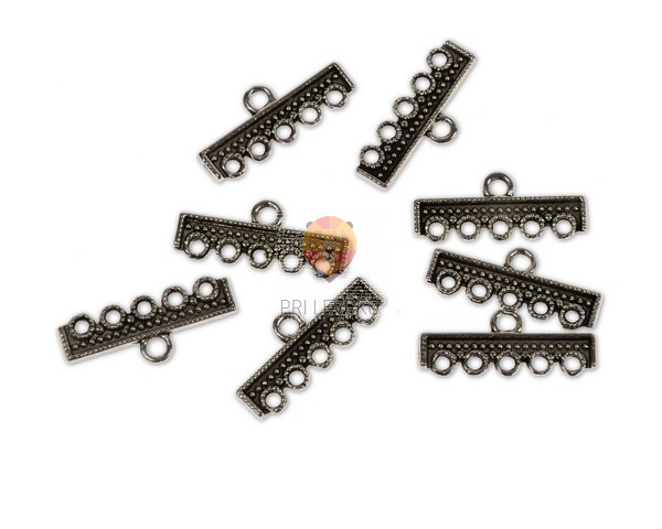 Obešanke za uhane in ogrlice - ravne, 8 kos