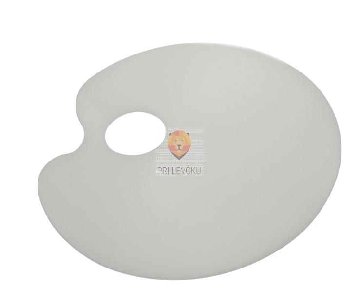Paleta za mešanje barv 17x22cm - ploščata ovalna