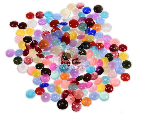 Perle akrilne ploščate mix 6 50g