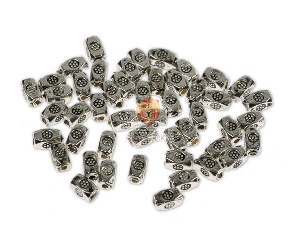 Perle kovinske, 48 kos