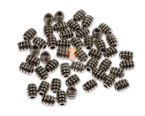 Perle kovinske - zvitki, 48 kos