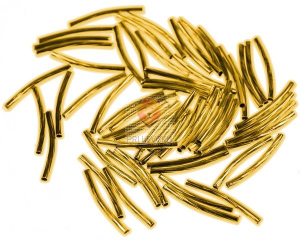 Perle kovinske palčke zlate 25 mm, 10 g