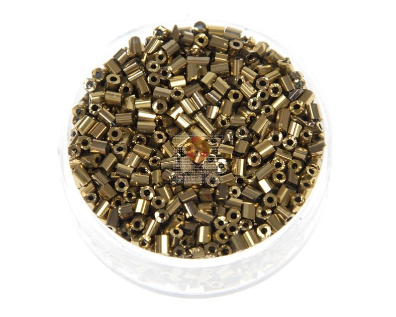 Perle kovinske palčke zlate barve 3mm 16g