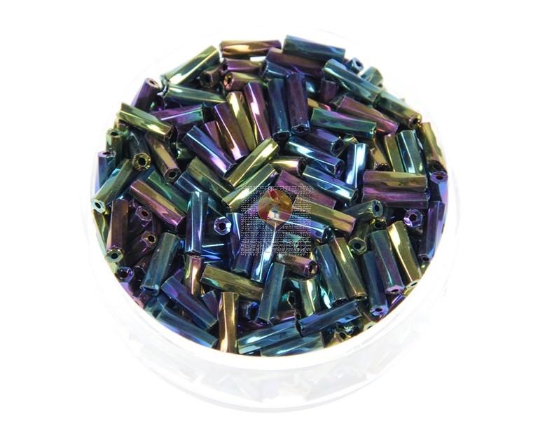 Perle kovinske palčke zavite modra AB 6 mm 17g