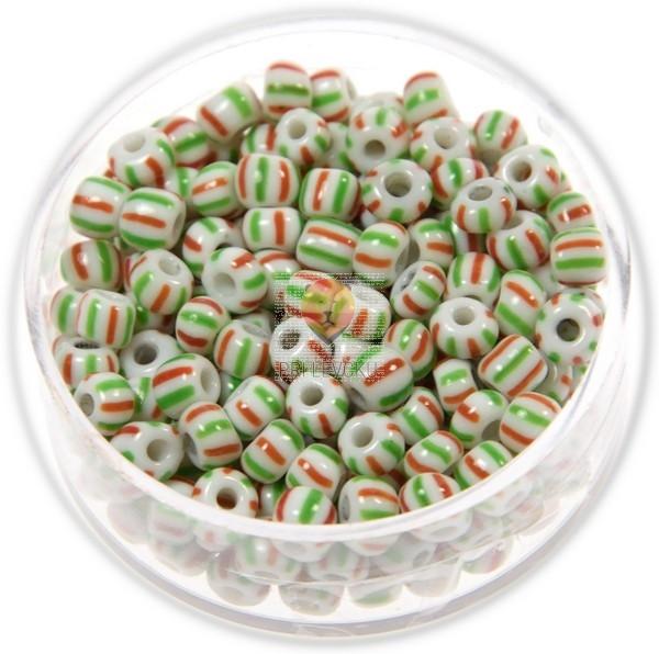Perle večbarvne rdeče-zelene 4,6mm 17g