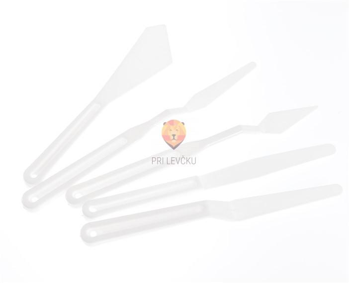 Set plastičnih slikarskih lopatic, različne oblike, 5 kos