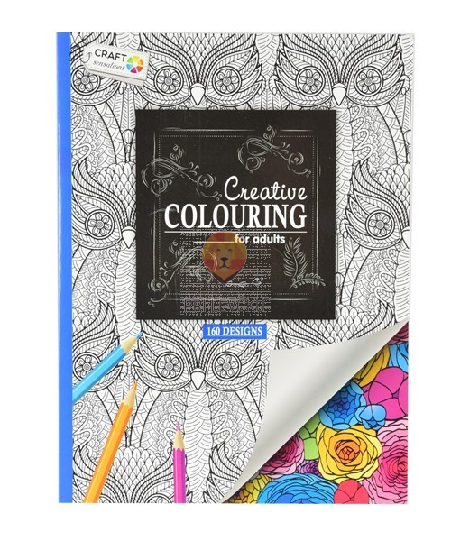 Pobarvanka Creative Colouring modra160 motivov