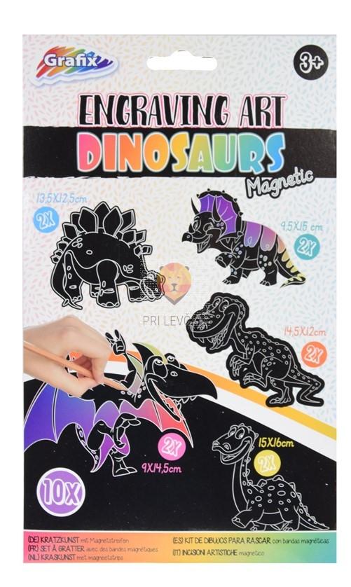 Praskanka magnetna Dinozavri set 10 kosov