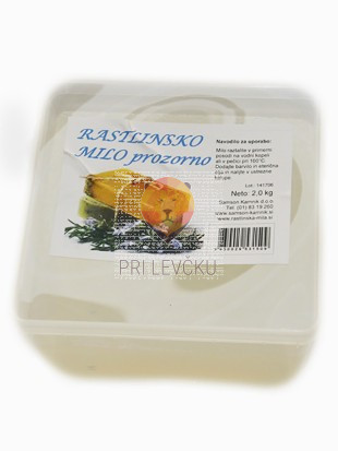 Rastlinsko prozorno milo 2 kg
