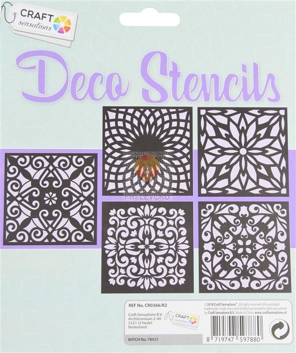 Šablone za izdelavo dekoracij Ornamenti 5 kosov