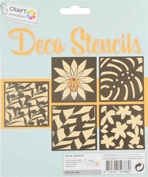 Šablone za izdelavo dekoracij Listki in rože 5 kosov