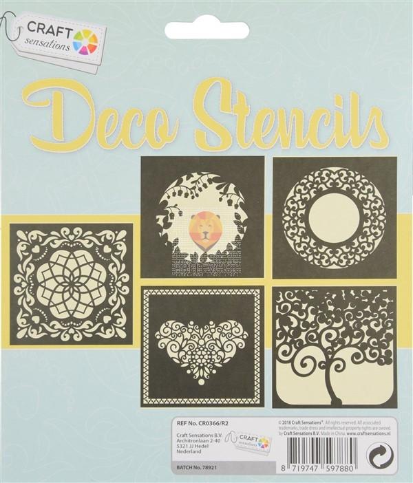 Šablone za izdelavo dekoracij Ornamenti II 5 kosov