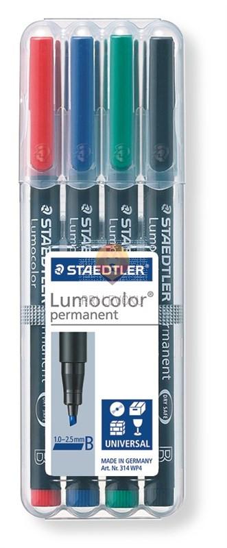 Set prirezanih permanentnih flomastrov Lumocolor B 4/1 Staedtler