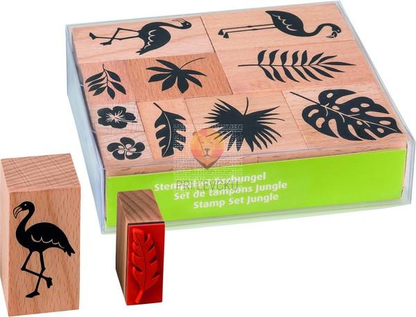 Štampiljke lesene - Džungla, 10 kosov