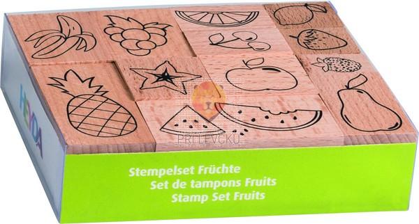 Štampiljke lesene Sadje 10 kosov
