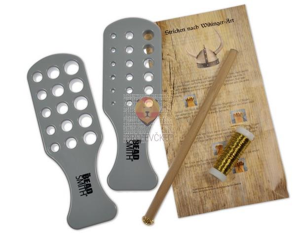 Set za vikingško pletenje, z žico različnih barv