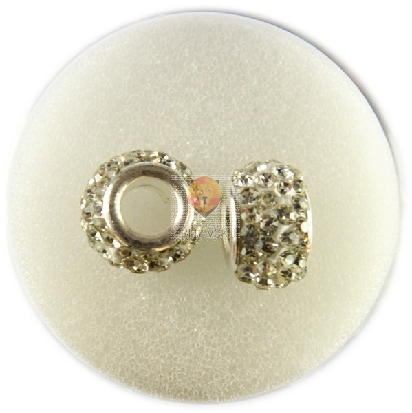 Shamballa perle z veliko luknjo 2 kosa
