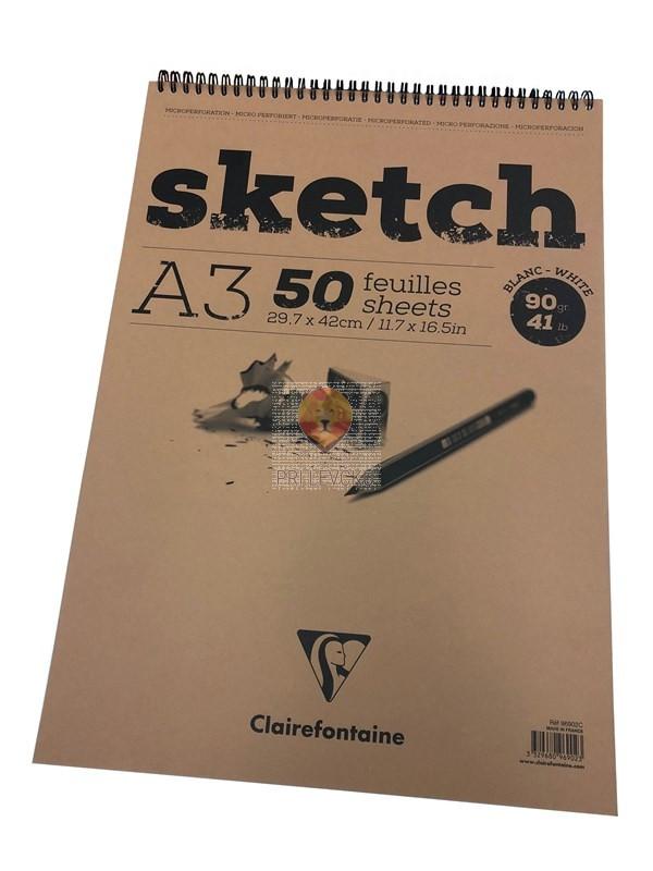 Skicirka A3 50 listov spiralna vezava