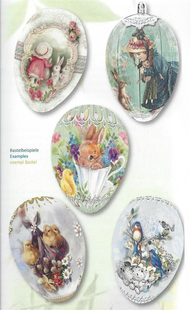 """Skrčljiva folija za velikonočno dekoracijo jajc - """"Velikonočni motivi,"""" 5 kos"""