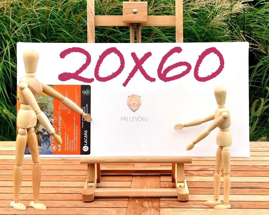 Platno slikarsko 20x60cm 380 g/m2 1 kos