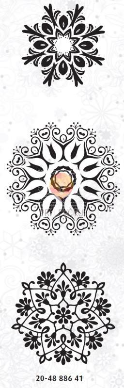 Akrilne štampiljke 3 kosi novoletni motivi