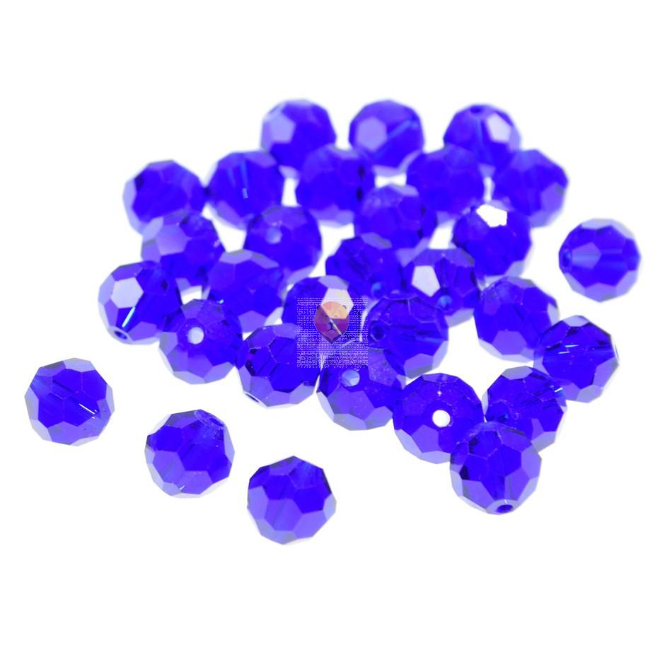 Perle steklene okrogle brušene 8 mm, 30 kos