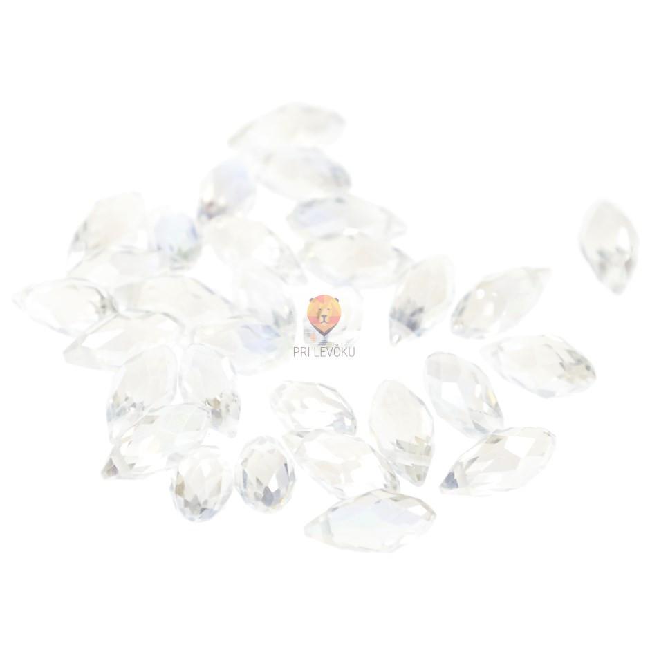 Perle steklene solzice 14 x 5 mm, 30 kos