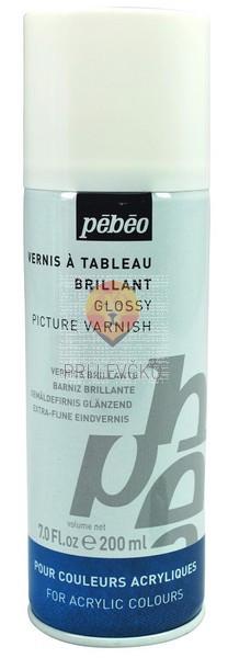 Svetleči lak za akrilne barve v spreju Glossy Varnish 200 ml