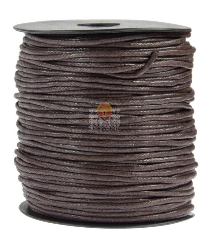 Tekstilna povoščena vrvica rjava 2mmx80m
