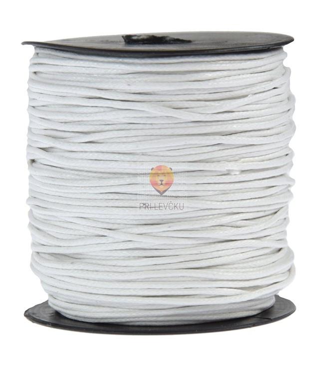 Tekstilna povoščena vrvica bela 2mmx80m