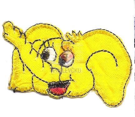 Našitek samolepilni - Slonček 6 cm x 3 cm