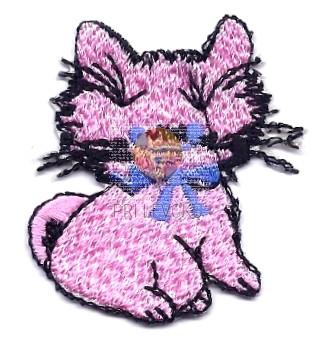 Našitek samolepilni - Mucka rožnata 4,5 cm x 3,5 cm
