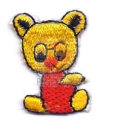 Našitek samolepilni - Mali medvedek 3 cm x 1,5 cm